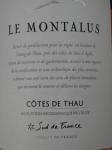 """2020 Rosé Côtes du Thau """"Montalus"""" IGP."""