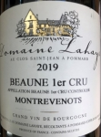 "2019 Beaune 1er Cru ""Montrevenots"""