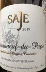 "2019 Châteauneuf-du-Pape ""Saje"""
