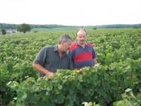 In der Champagne :: Roland Schöffel mit Alain Brixon-Coquillard (Ludes)