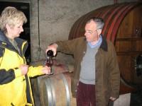 Weinprobe :: Gabi mit Eloi Dürrbach von Dom. Trevallon